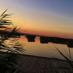 Sonnenuntergang am Steg am Neusiedlersee
