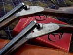 A well balanced and elegant pair of shotguns in caliber 20/70.
