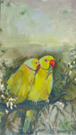 Lovebirds 30x50cm, verkauft