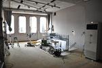 6月17日。2階スタジオも天井レールが残るのみ。