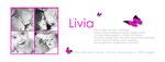 Danke Livia I 215x80mm I 2-seitig