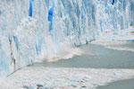 Perito Moreno Gletscher, hier bricht gerade ein Stück ab