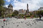 La Paz,, Plaza Murillo, fast wie auf dem Markusplatz in Venedig