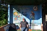 warten auf den Bus nach Iguazu