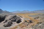 Anfahrt zum Campo Piedra Pomez