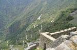 Blick von Machu Picchu ins Tal