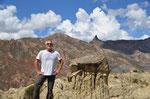 Im Valle de Luna in La Paz