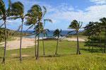 Anakena, der einzige Sandstrand der Insel
