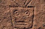 Tausende Jahre alte Steinhauerei von Indios im Fels in 4000m Höhe