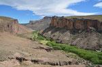 Canyon bei den Cuevas de las manos