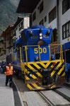 Mit dem Zug nach Aguas Calientes