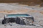 40 Grad Badebecken beim Geysir Puchultisa auf 4300m