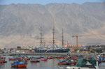 Restaurierter 3-Master am Hafen von Iquique