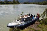 Unsere Nussschale von Boot