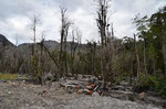 Umgebung von Chaiten, 2008 begraben unter Asche und Schlamm