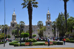 Cathedral in Arequipa at the main plaza