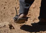 Schuhwerk eines Bauern auf der Sonneninsel