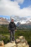 Michael vor Cerro Torre & Fitz Roy