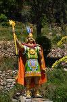 Der erste Inka Manco Capac auf der Sonneninsel