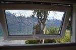 Blick aus dem Schlafzimmerfenster