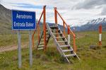 Airport im Nirgendwo kurz nach der Einreise in Argentinien