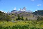 Cerro Torre und Fitz Roy bei El Chaltén in Argentinien