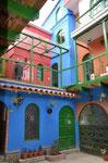 Innenhof eines Hostels in La Paz