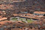 Cusco von oben mit Plaza de Armas