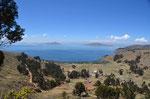 Erster Blick auf den Titicacasee