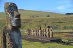 Ahu Tonga Riki, ...ist mit 15 MOAI die größte Ansammlung