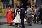 Eine Hochzeitsgesellschaft