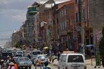 Chaotischer Verkehr in der Innenstadt