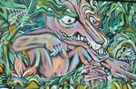Graffiti - gesehen bei Wicked Campers in Santiago