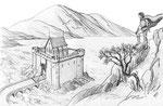 Paysage réalisé en direct dans le cours de dessin en ligne : le paysage (elephorm.com)