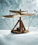 L'hélicoptère de Léonard de Vinci (détail) - photo Gilles de Beauchêne