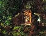 Porte de lutin et champignons - photo Gilles de Beauchêne