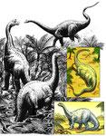 Dinosaures herbivores - Les animaux préhistoriques - Editions Hachette