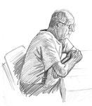 Portrait réalisé en direct dans le cours de dessin en ligne : le corps humain (elephorm.com)