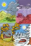 Les saisons - Dictionnaire School (Larousse)