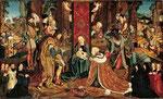 Meister des Aachener Altars. Meister des Aachener Altars Die Anbetung der Heiligen Drei Könige (16. Jh.))
