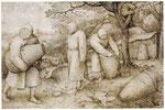 Die Bienenzüchter - Federzeichnung von Pieter Bruegel (um 1586)