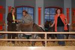 Birgit und Dennis mit Masl-tow und Judith mit Samuel während der Aufzeichnung, Foto: Brigitte Karwath