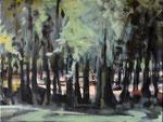 Lichtung, 2015, Öl auf Leinwand, 30 x 40