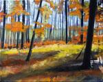 Waldstueck 11, 2016, Öl auf Leinwand, 40 x 50 (saled)