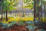 Wald, 2015, Acryl auf Leinwand, 70 x 110   (saled)