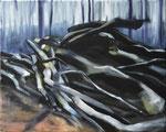 Waldstueck7, 2016, Öl auf Leinwand, 40 x 50