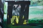 Schuppen, 2015, Öl auf Leinwand, 70 x 110