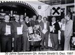 Ehrung 30 Jahre Sparverein Gasth. Anton Streibl 5.12.1987