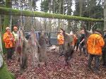 Ordentliche Strecke für ein Dutzend Büchsen und zwei Hundeführer...
