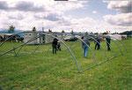 Zeltaufbau 2003
